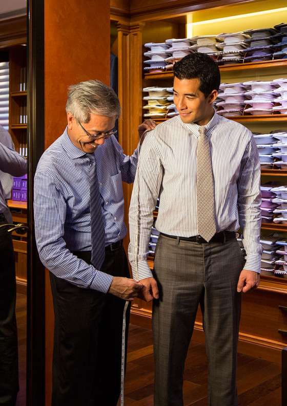 Quality and style-conscious men often look for the finest made-to-measure suits in LANDMARK