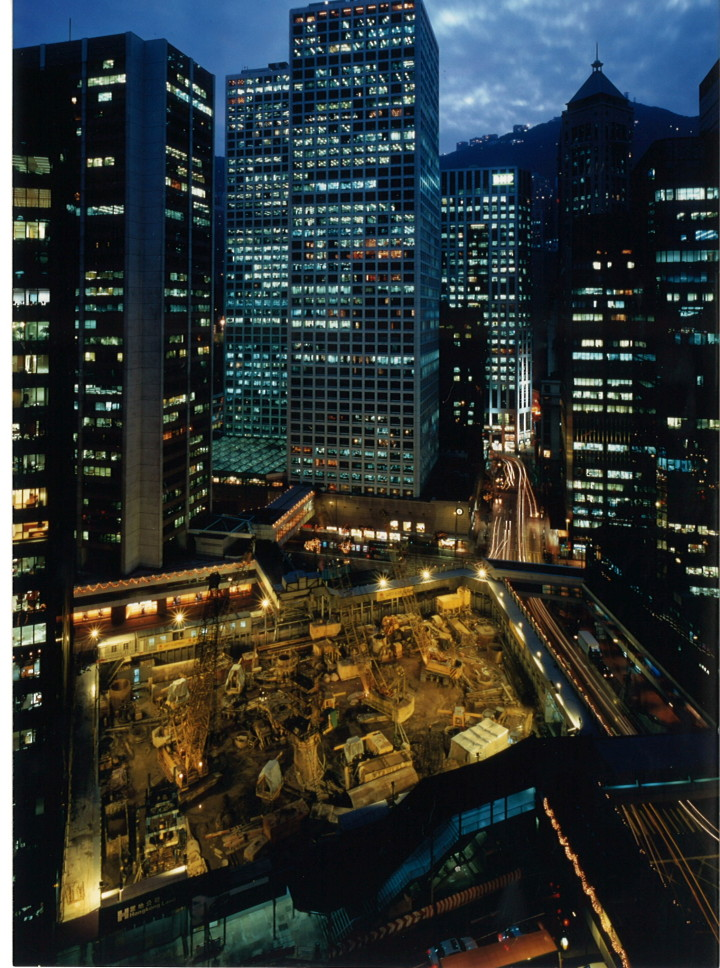 Chater House construction site, 2000