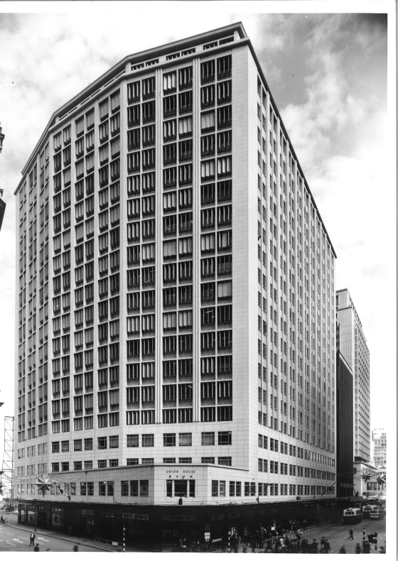 Union House c.1962 - At the junction of Pedder Street (left) and Chater Road (right).