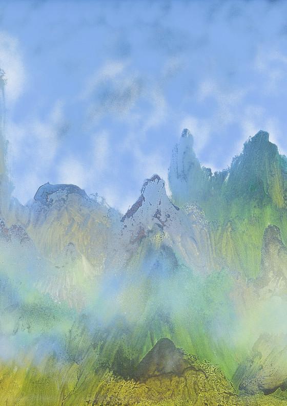 Himalayas I, 1982 by Sir Sidney Nolan