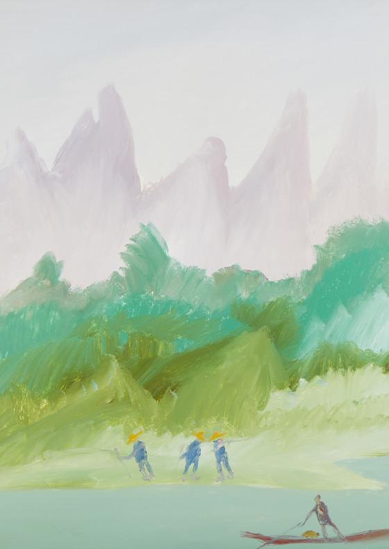The Silk Road Series Kweilin River II, 1982 by Sir Sidney Nolan
